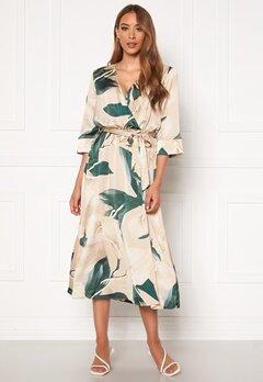 OBJECT Fania 3/4 Dress Humus AOP: Lily Bubbleroom.fi