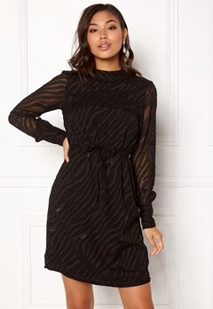 OBJECT Gabrielle L/S Dress Black Bubbleroom.fi