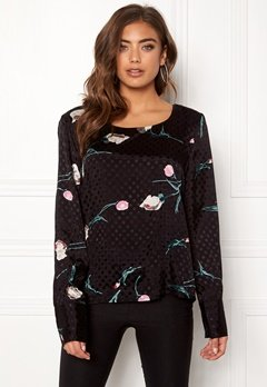 OBJECT Jasmine L/S Top Black Bubbleroom.fi
