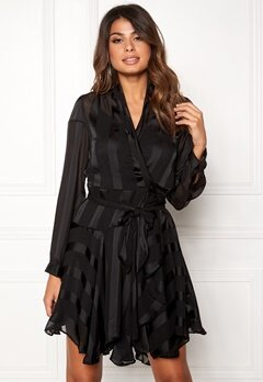 OBJECT Katinka L/S Wrap Dress Black Bubbleroom.fi