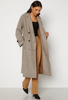 OBJECT Keily L/S Coat Sepia Check Bubbleroom.fi