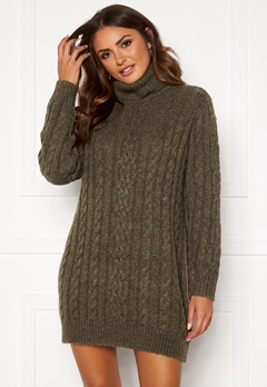 OBJECT Kiara L/S Knit Dress Forest Night/Melange Bubbleroom.fi