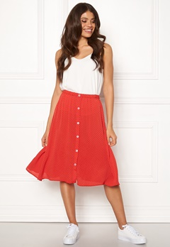 OBJECT Lemon MW Midi Skirt Poppy Red Bubbleroom.fi