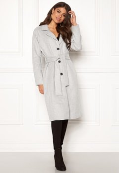 OBJECT Lena Coat Light Grey Melange Bubbleroom.fi