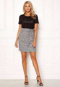 OBJECT Lisa Abella Mini Skirt Gardenia/Checks Bubbleroom.fi