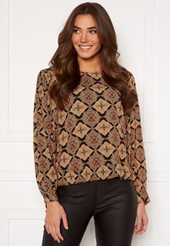 OBJECT Lisa L/S Top Black AOP Paisley Bubbleroom.fi