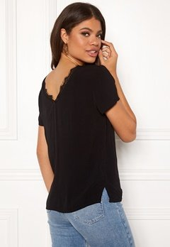 OBJECT Lourdes S/S Lace Top Black Bubbleroom.fi
