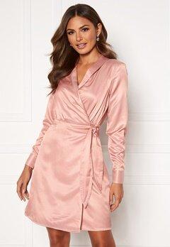 OBJECT Maisie L/S Short Dress Misty Rose Bubbleroom.fi