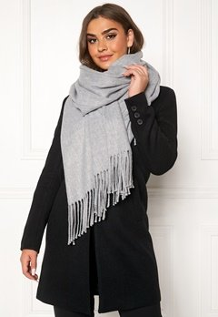 OBJECT Marilyn Wool Scarf Light Grey Melange Bubbleroom.fi