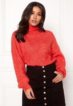 OBJECT Maryam Nete L/S Knit Fiery Red Bubbleroom.fi