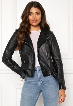 OBJECT Nandita Leather Jacket Black Bubbleroom.fi