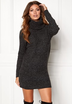 OBJECT Nonsia Rib Rollneck Dark Grey Melange Bubbleroom.fi
