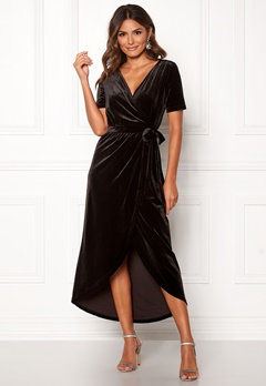 OBJECT Noreena 3/4 Wrap Dress Black Bubbleroom.fi