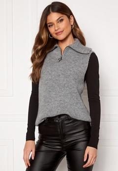 OBJECT Rachel Knit Vest Light Grey Melange Bubbleroom.fi