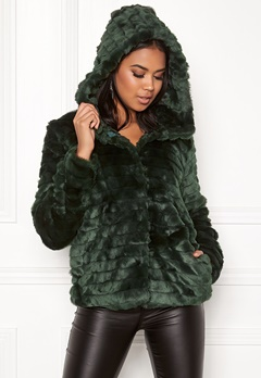 OBJECT Sandie Faux Fur Jacket Pine Grove Bubbleroom.fi