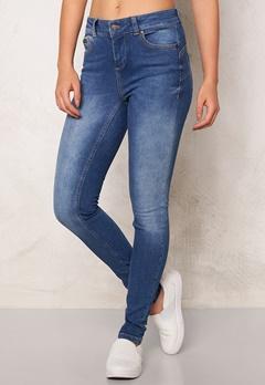 OBJECT Skinny Sally 205 Jeans Medium Blue Denim Bubbleroom.fi