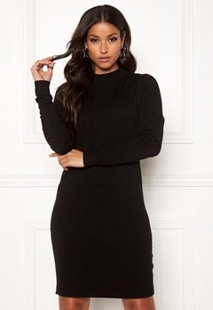 OBJECT Thess L/S Knit Dress Black Bubbleroom.fi