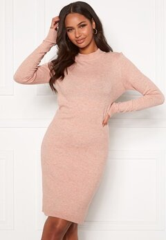 OBJECT Thess L/S Knit Dress Misty Rose Bubbleroom.fi