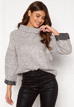 OBJECT Trina Sweat Pullover Light Grey Melange Bubbleroom.fi