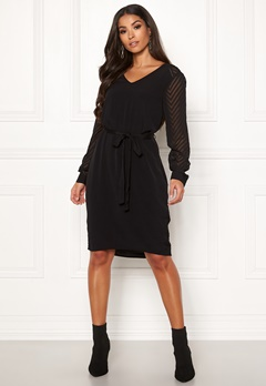 OBJECT Zoe L/S Dress Black Bubbleroom.fi