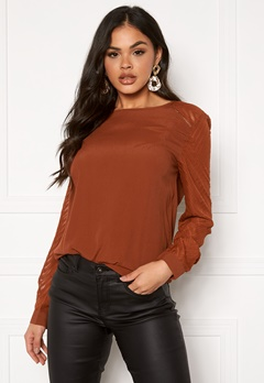 OBJECT Zoe L/S Top Seasonal Brown Patina Bubbleroom.fi