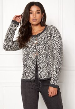 Odd Molly Good Vibrations Cardigan Almost Black Bubbleroom.fi