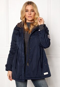 Odd Molly Parky Parka Dark Blue Bubbleroom.fi