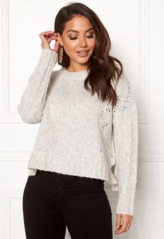 Odd Molly Upbeat Sweater Light Grey Melange Bubbleroom.fi