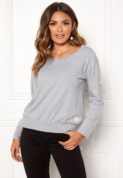 Odd Molly What's Up Sweater Light Grey Melange Bubbleroom.fi