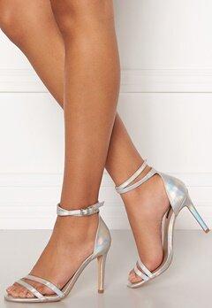 ONLY Aila Pu Iridescent Wrap Heeled Sandal Silver Bubbleroom.fi