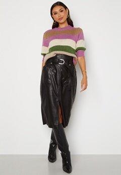 ONLY Alba Faux Leather Long Skirt Black Bubbleroom.fi