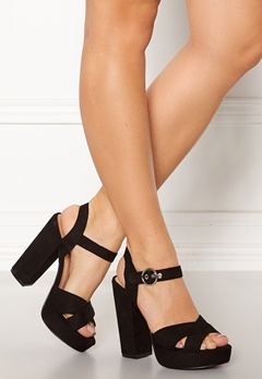 ONLY Allie Wide Heeled Sandal Black Bubbleroom.fi