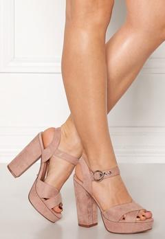 ONLY Allie Wide Heeled Sandal Light Pink Bubbleroom.fi