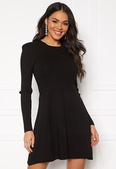 ONLY Alma L/S O-Neck Dress Black Bubbleroom.fi