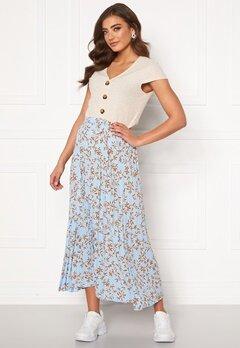 ONLY Alma Poly Plisse Skirt AOP Cashmere Blue Bubbleroom.fi