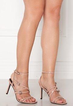 ONLY Alyx PU Heeled Sandal Nude Bubbleroom.fi
