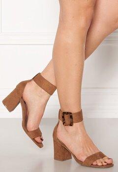 ONLY Amanda Ankle Strap Heeled Sandal Cognac Bubbleroom.fi