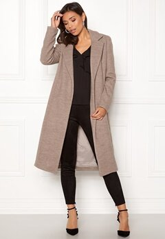ONLY Amy Sharon Wool Coat Simply Taupe Bubbleroom.fi