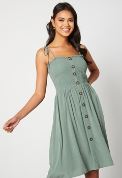 ONLY Annika S/L Smock Dress Chinois Green<br>  Bubbleroom.fi