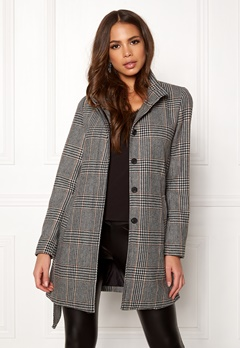 ONLY Ashley Check Wool Coat Black Bubbleroom.fi