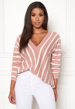 ONLY Aya 7/8 V-Neck Pullover Misty Rose Bubbleroom.fi