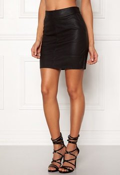 ONLY Base Faux Leather Skirt Black Bubbleroom.fi