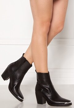 ONLY Belize PU Heeled Boot Black Bubbleroom.fi