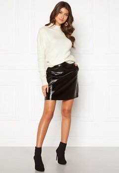 ONLY Bella Faux Leather Skirt Black Bubbleroom.fi