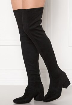 ONLY Billie Long Heeled Boot Black Bubbleroom.fi
