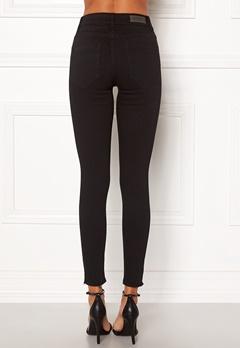 ONLY Blush Mid Ank Raw Jeans Black Denim Bubbleroom.fi