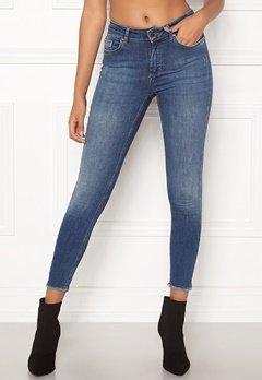 ONLY Blush Mid Ank Raw Jeans Dark Blue Denim Bubbleroom.fi