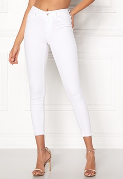ONLY Blush Mid Ankle Jeans White Bubbleroom.fi