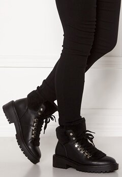 ONLY Bold PU Fur Winter Boot Black Bubbleroom.fi