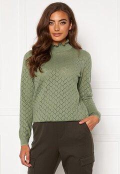 ONLY Brandi Life L/S Pullover Hedge Green Bubbleroom.fi